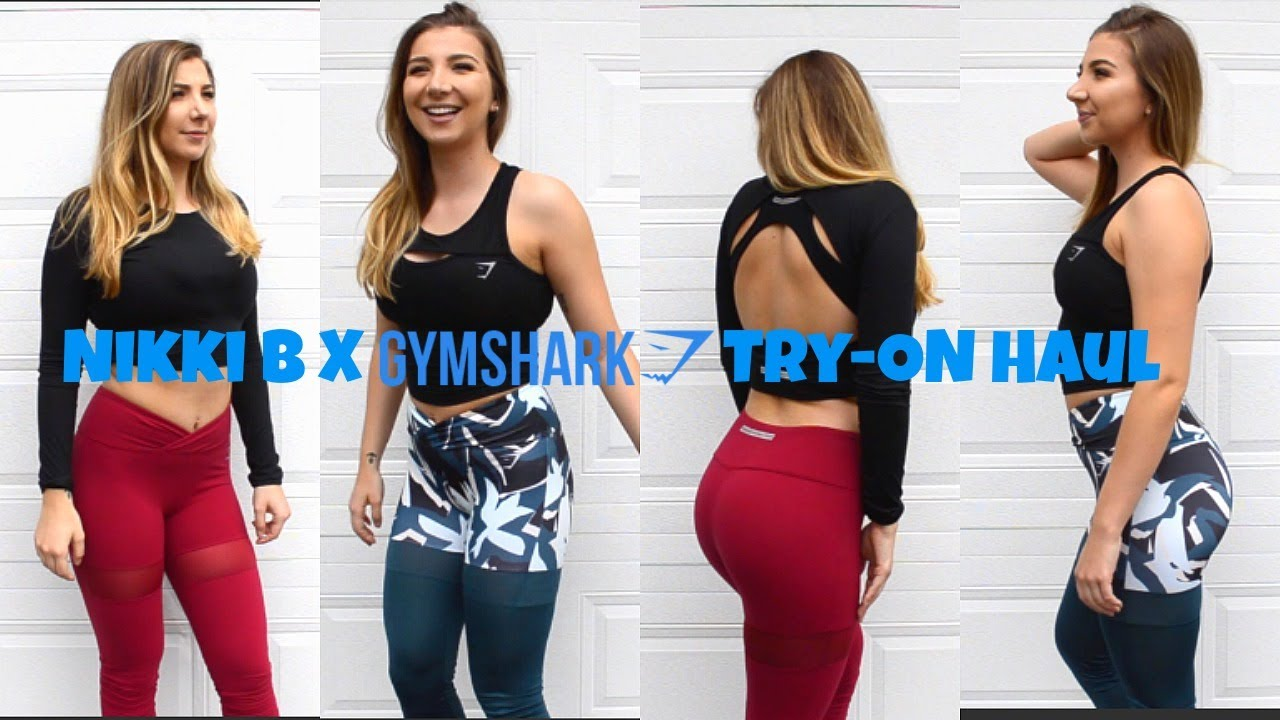 cc08d3cba4856 Gymshark and Nikki Blackketter Collection Try-On Haul - YouTube