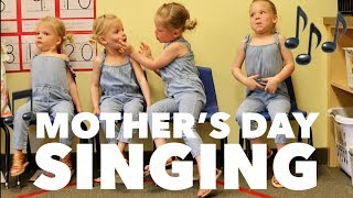 QUADRUPLETS Sing Mother a MOTHER'S DAY Song In Public
