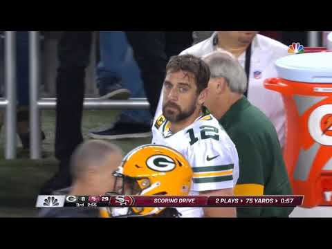 [Highlight] Defenses have a habit of forgetting George Kittle is a great receiver. Here he is scoring a 61-yard touchdown last year when the Packers forgot to cover him