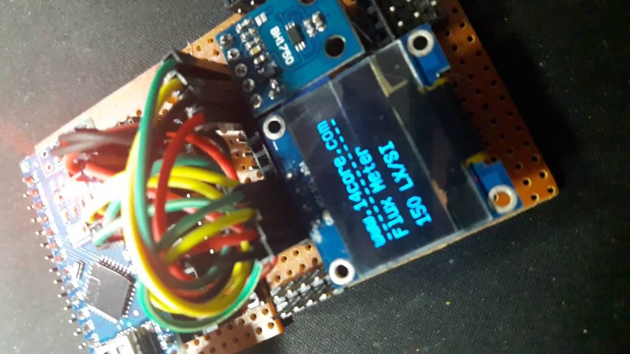 Driving Digital Light Ambient Sensor Bh1750fvi On Oled Screen With Semiconductors For Tachometer Prototype Circuit Nano