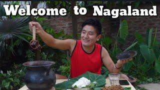 MUKBANG | LOCAL NAGA STYLE |  SMOKED PORK WITH ANISHI |AO NAGA TRADITIONAL FOOD NAGALAND|NORTH EAST YouTube Videos
