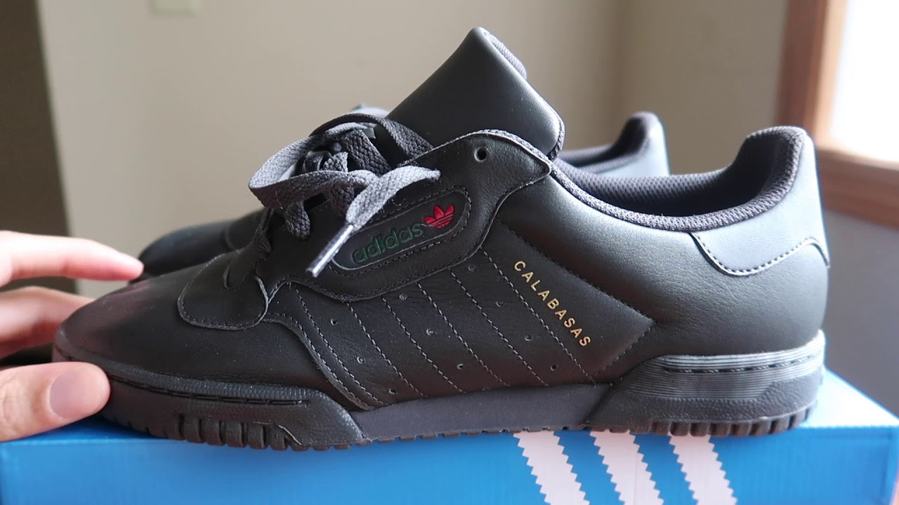 4fe78f37cf3a9 TRUE) YEEZY POWERPHASE BLACK REVIEW AND ON FEET! - YouTube