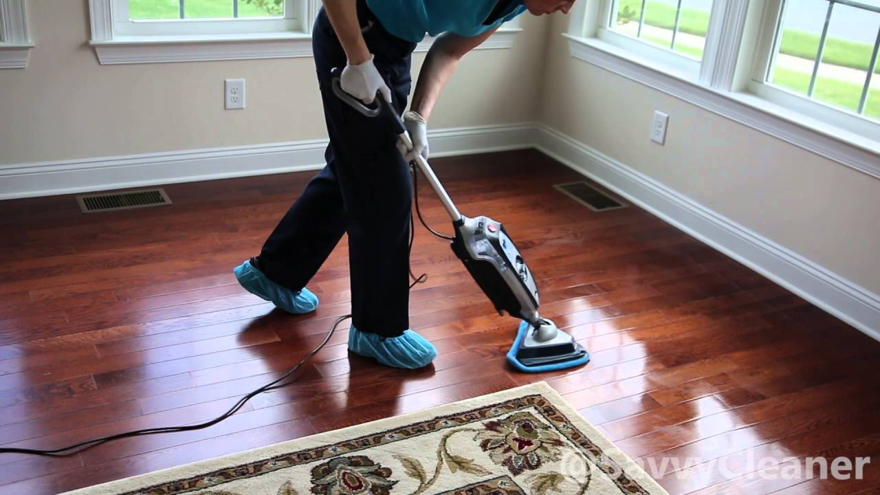 How To Steam Mop A Hardwood Floor @SavvyCleaner   YouTube