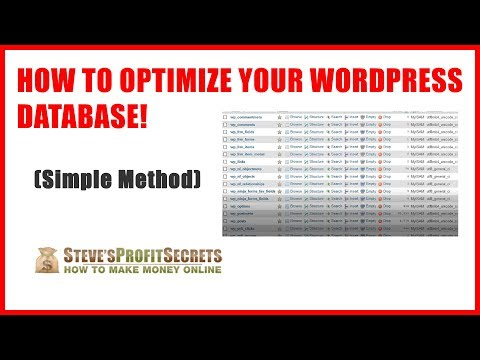 How to Optimize a WordPress Database in phpMyAdmin