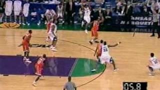 Hakim Warrick--The Block-- vs. Kansas National Title Game 2003 replays