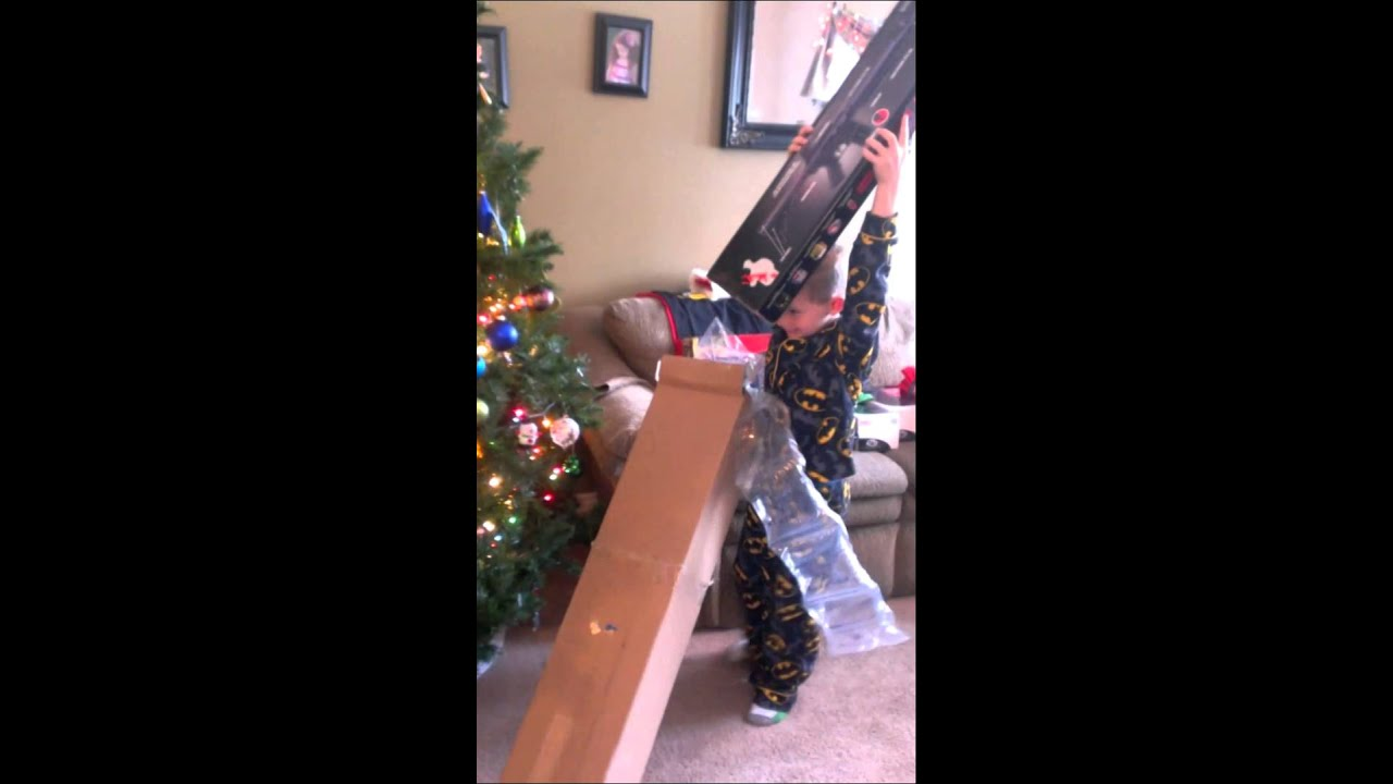 a christmas story 2014 opening his 1st bb gun