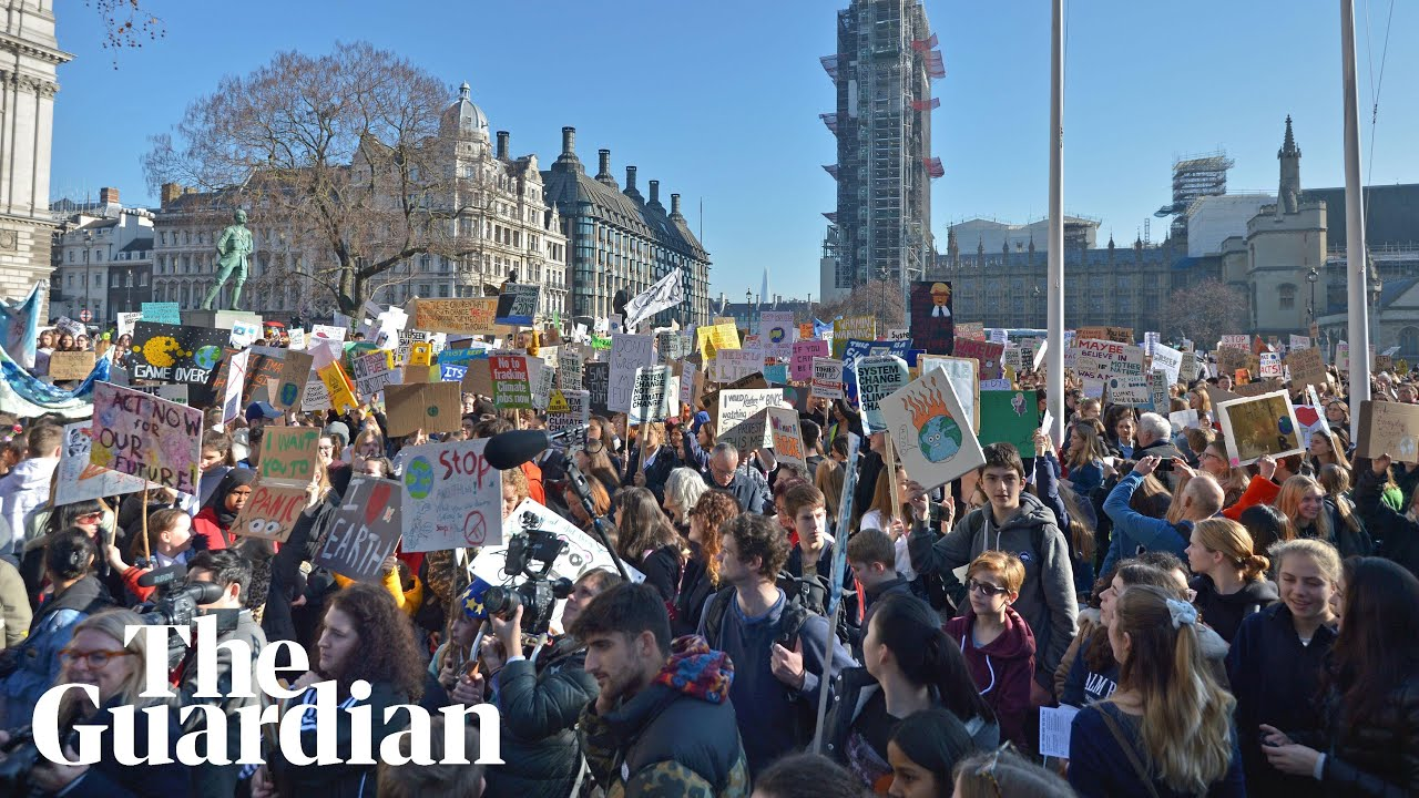Thousands of UK students strike over climate change