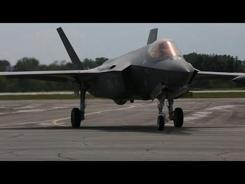 F-35 Fighter Jet Lands at Gary Airport in Advance of Air Show