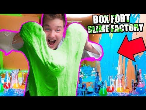 BILLIONAIRES BOX FORT SLIME FACTORY!!  $1,000 Slime Challenge