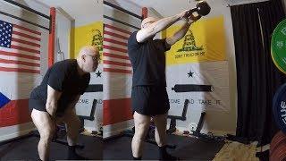 2-27-2019 Orc Mode Training - GPP Work - Kettlebell Swings, Face Pulls & Press