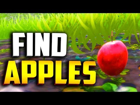 WHERE TO FIND APPLES in FORTNITE! (Apple Tree Locations) + Fortnite Apple Trap!
