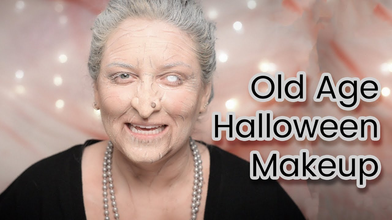 Old Age Or Witch Makeup Tutorial With Latex Prosthetic Nose #TutorialTuesday | CORRIE SIDE - YouTube