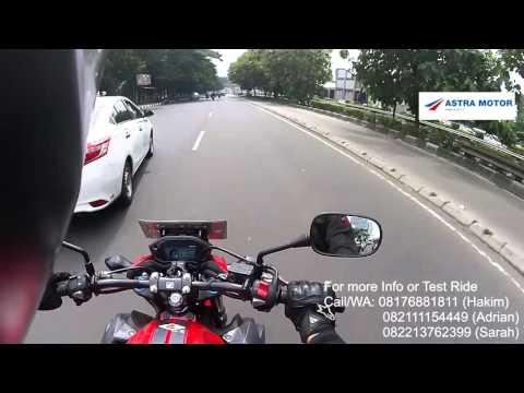 Cockpit View Honda CB500F Astra Motor Jakarta