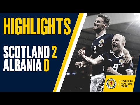 highlights scotland 2 0 albania youtube