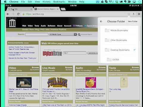 Using Bookmarks on an iPad with Google Chrome (7 min)