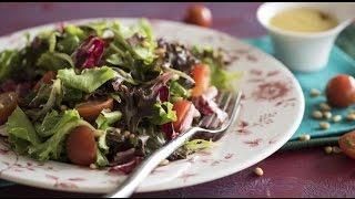 Французский салат с горчичной заправкой винегрет