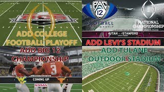 THE ULTIMATE NCAA FOOTBALL 14 MOD! (CFB PLAYOFF, UPDATED BOWL GAMES AND MORE)