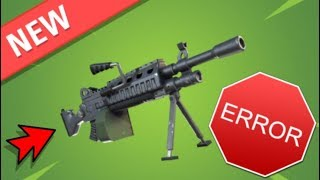 Fortnite: Minigun or light machine gun disposals - BUG -
