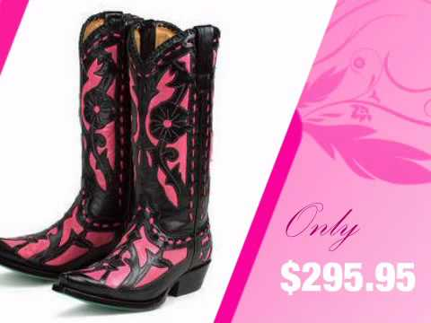 Womens Pink Cowgirl Boots - Cr Boot