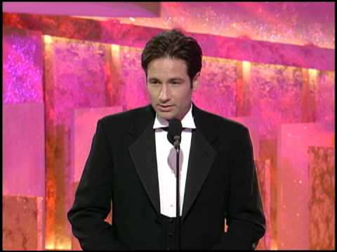 Golden Globes 1997 David Duchovny Wins Best Actor TV Series Drama X Files