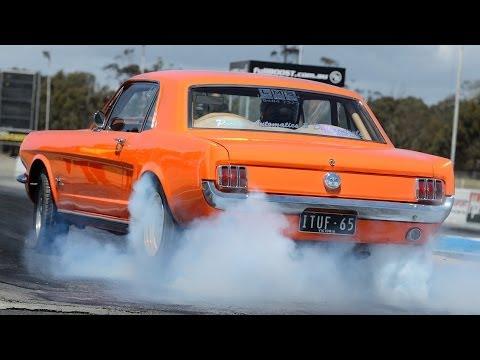 Turbo 6 Mustang runs 8s on radials ~ Tunnel Vision
