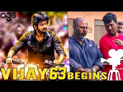 Breaking! 'Thalapathy 63' Pooja - Shooting Begins   Vijay Atlee Next Movie