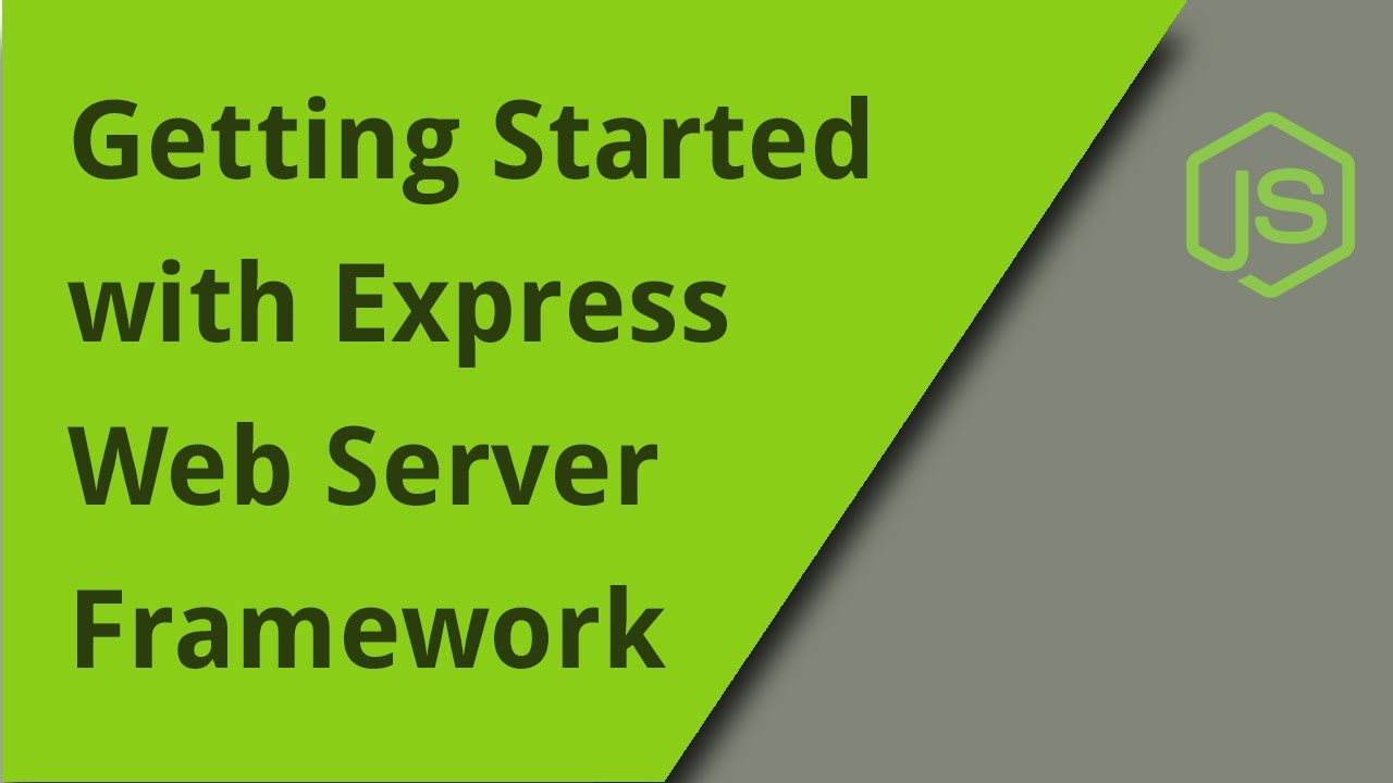 Quickstart with Express Web Server Framework