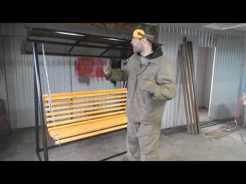 Самодельные качели,размеры и материалы