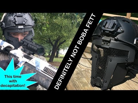 Reach: The Galactic Airsoft Bounty Hunter // OneTigris Tactical Scifi Face Mask Review