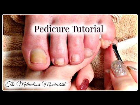 👣Pedicure Tutorial:  How to Remove Dead Skin on Toenails 👣