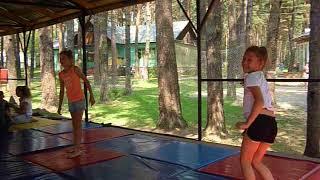 Немного гимнастике в летнем лагере