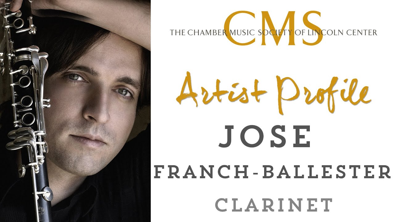 Jose Franch-Ballester, clarinet - September 2014 CMS Artist Profile