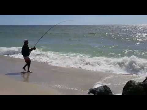 Robert Moses, Long Island New York Catching Striped Bass