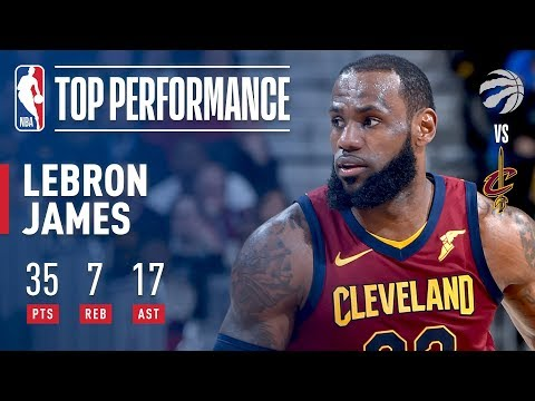 LeBron Leads The Comeback With 35 pts & 17 ast vs The Raptors