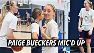 Paige Bueckers At Practice For The UConn Women's Basketball Team