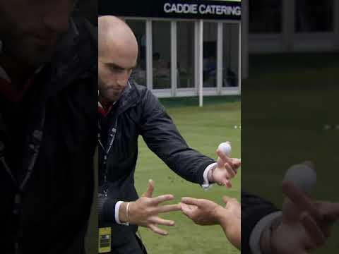 Magician CRUSHES golf ball with his bare hands! 💪