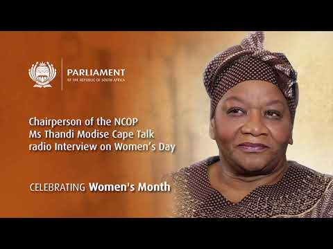 Chairperson of the NCOP Ms Thandi Modise's Cape Talk Radio Interview on Women's Day
