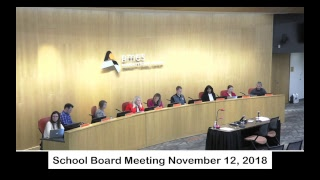 Ames Community School District Board Meeting Nov. 12 , 2018 Live Stream