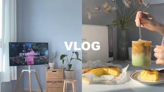 sub) vlog 이젤 티비거치대로 복층 거실 인테리어…