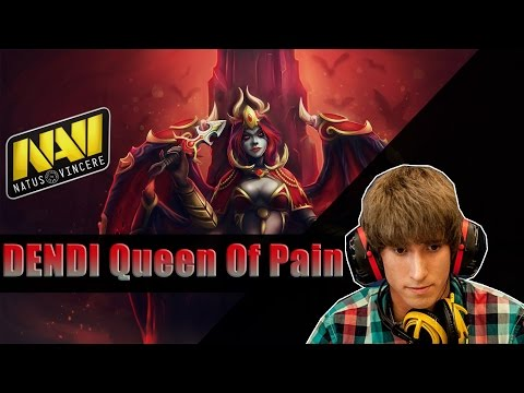 Na`Vi Dendi playing Dota 2 on Queen of Pain (twitch stream)