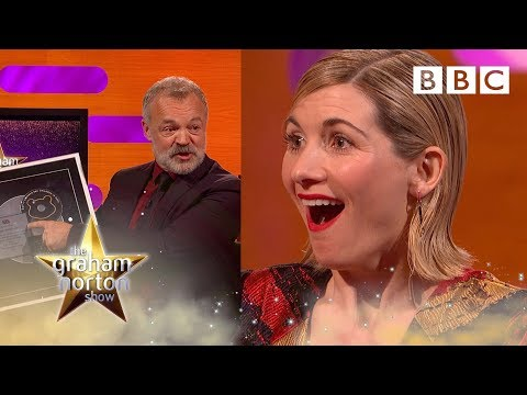 Jodie Whittaker surprised with Silver Disc for Coldplay's Yellow cover   Graham Norton Show - BBC