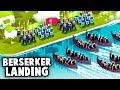 BERSERKERS vs KNIGHTS! Epic Viking Beach Landing on our Island! (Bad North Gameplay)