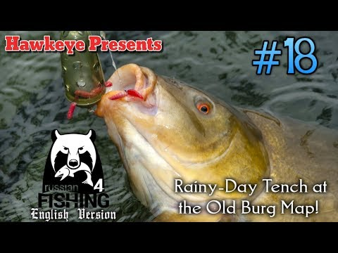 Russian Fishing 4 | ENGLISH | #18 - Rainy-Day Tench at the Old Burg Map!