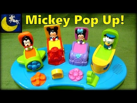 Rare Disney Babies Mickey Mouse Pop Up Toy From Mattel 2000 With Donald Duck, Minnie Mouse & Goofy!
