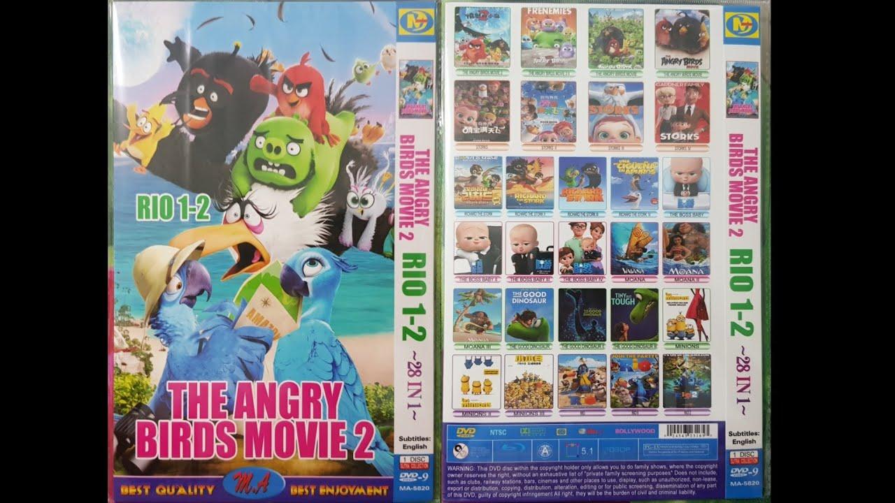 The Angry Birds Movie 2 Rio 1 2 Dvd Menu 2019 Youtube