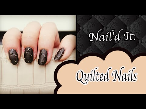 Quilted Nail Art Tutorial Naild It Youtube