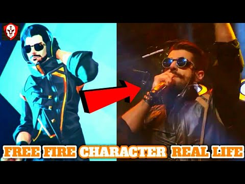 Garena Free Fire All Characters Real Life|Origin Of Character Free Fire