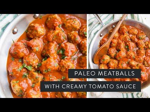 ITALIAN MEATBALLS WITH CREAMY TOMATO SAUCE » paleo + whole30