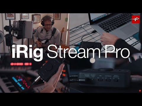 iRig Stream Pro 4-in, 2-out streaming audio interface overview