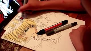Draw with me 9. Usui x Ayuzawa (Kaichou wa Maid-sama)